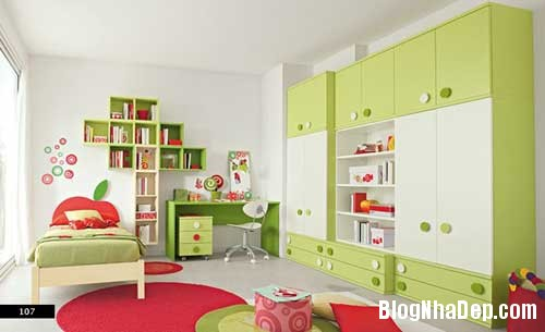 nhung can phong dang yeu cho be 15 Màu sắc đẹp cho phòng trẻ em hay tuổi teen