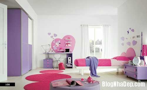 nhung can phong dang yeu cho be 8 Màu sắc đẹp cho phòng trẻ em hay tuổi teen