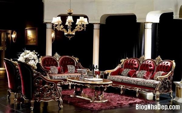 noi that phong khach nguy nga va trang le mang dam phong 002 Xa hoa tráng lệ với phòng khách phong cách nội thất Baroque
