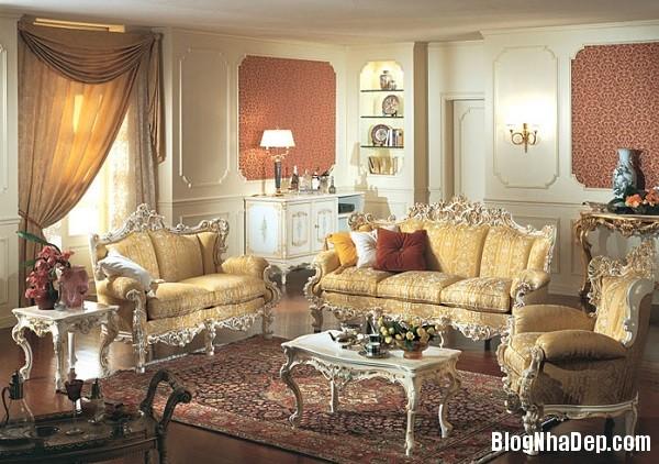 noi that phong khach nguy nga va trang le mang dam phong 004 Xa hoa tráng lệ với phòng khách phong cách nội thất Baroque
