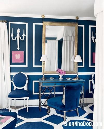 phong ngu 1 Trang trí nhà đẹp với màu xanh