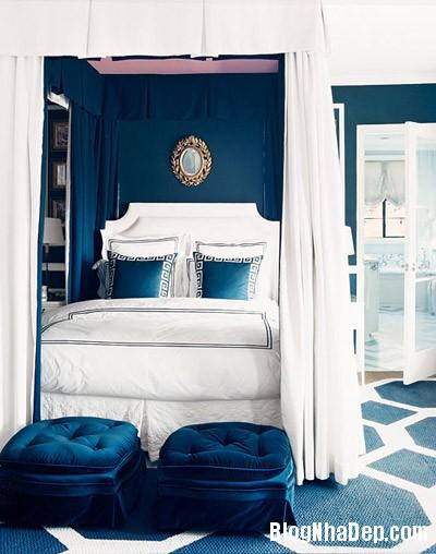 phong ngu 2 Trang trí nhà đẹp với màu xanh