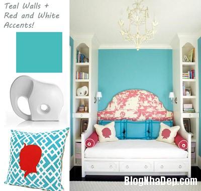 phong ngu 5 Trang trí nhà đẹp với màu xanh
