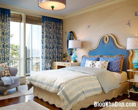 phong ngu 7 Trang trí nhà đẹp với màu xanh