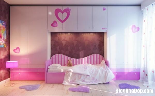 phong ngu be gai cs 01 Những mẫu phòng ngủ dễ thương cho bé gái