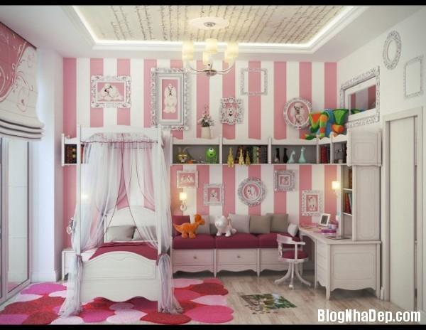 phong ngu be gai cs 02 Những mẫu phòng ngủ dễ thương cho bé gái