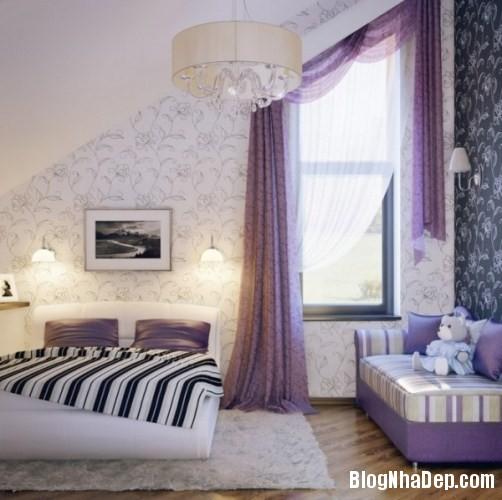 phong ngu be gai cs 10 Những mẫu phòng ngủ dễ thương cho bé gái