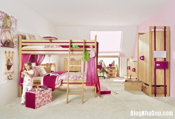 phong ngu be gai cs 11 Những mẫu phòng ngủ dễ thương cho bé gái