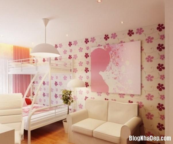 phong ngu be gai cs 13 Những mẫu phòng ngủ dễ thương cho bé gái