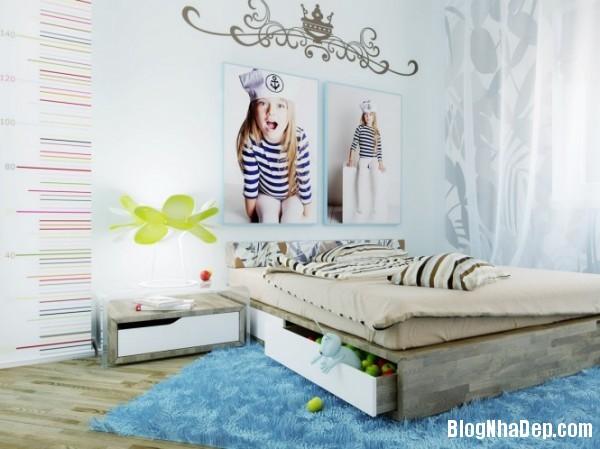 phong ngu be gai cs 14 Những mẫu phòng ngủ dễ thương cho bé gái
