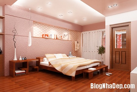 phong ngu den1 Thiết kế nội thất không gian phòng ngủ