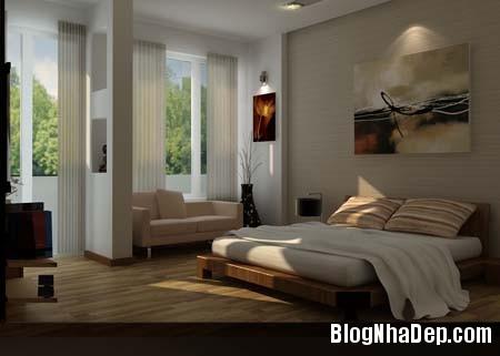 phong ngu sang 1 Thiết kế nội thất không gian phòng ngủ