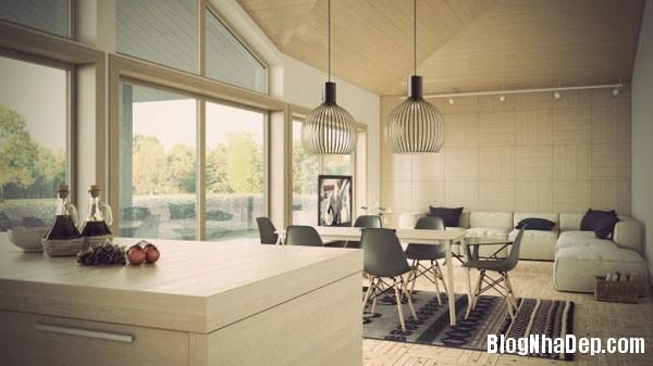 phong khach ket hop phong an 2 Kết hợp không gian phòng khách và phòng ăn hợp lý