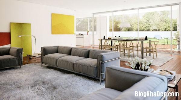 phong khach ket hop phong an 3 Kết hợp không gian phòng khách và phòng ăn hợp lý