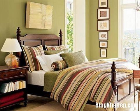 qh 20091016 nd 45 Phòng ngủ mùa hè thêm mát với họa tiết kẻ sọc