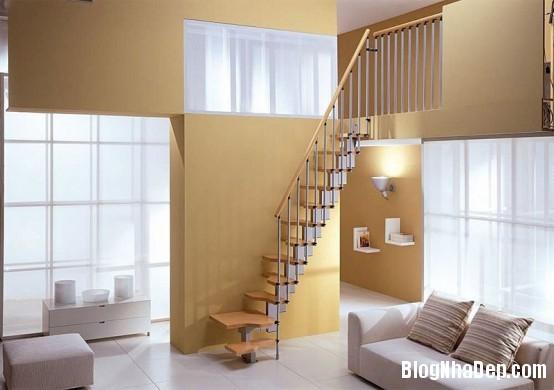 quarter turn staircase 554x390 Những mẫu cầu thang tiết kiệm diện tích cho nhà nhỏ