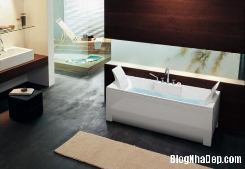 rectangular bathtub 665x461 500x3461 Mê mẩn với những thiết kế phòng tắm đẹp như ở spa