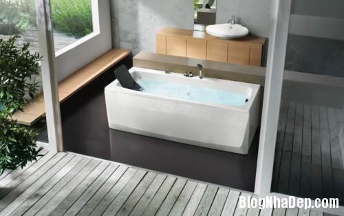 rectangular bathtub with head rest 665x419 500x3151 Mê mẩn với những thiết kế phòng tắm đẹp như ở spa