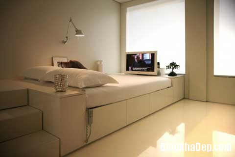 small space bedroom10 Closet House   Căn hộ nhỏ bé được thiết kế thông minh