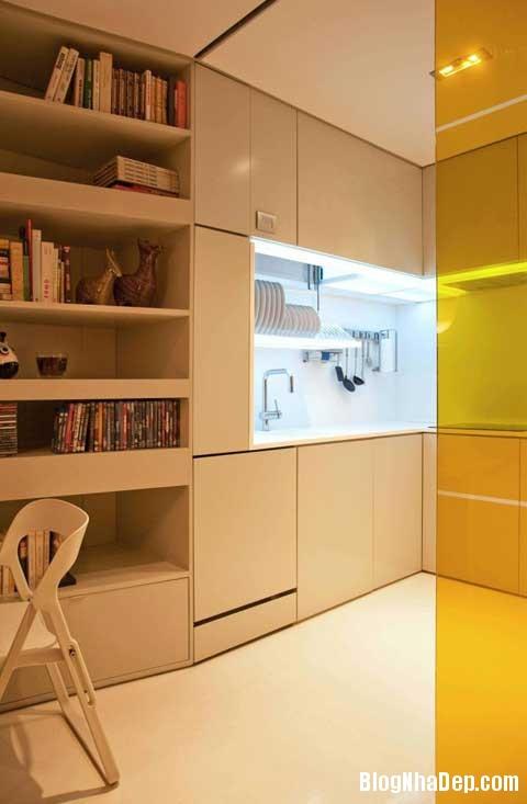 small space bedroom21 Closet House   Căn hộ nhỏ bé được thiết kế thông minh
