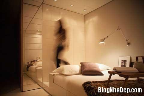 small space bedroom31 Closet House   Căn hộ nhỏ bé được thiết kế thông minh