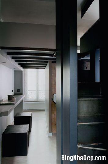 studio mais pas trop une entree minimaliste en blanc et noir 4602478 bed0b Phân chia không gian cho căn hộ 27m2