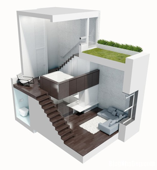 sua nha41 Cải tạo không gian sống thoáng đãng trong căn hộ cũ kỹ ở New York