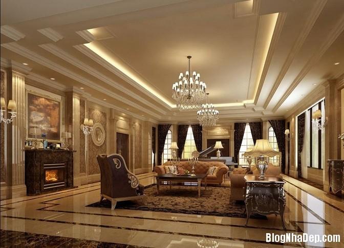 thiet ke noi that biet thu 1 Những mẫu thiết kế nội thất phòng khách ấn tượng