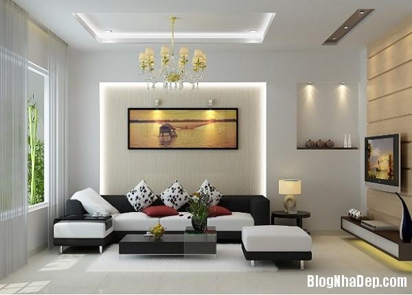thiet ke noi that phong khach cho kieu nha pho hien dai 1 jp Những mẫu thiết kế nội thất phòng khách ấn tượng