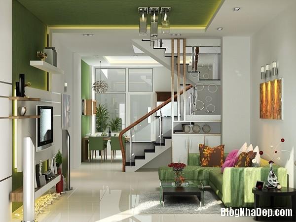 thiet ke noi that phong khach cho kieu nha pho hien dai 2 jp Những mẫu thiết kế nội thất phòng khách ấn tượng
