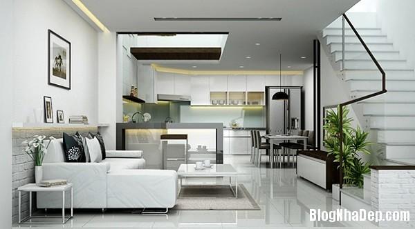 thiet ke noi that phong khach cho kieu nha pho hien dai 3 jp Những mẫu thiết kế nội thất phòng khách ấn tượng