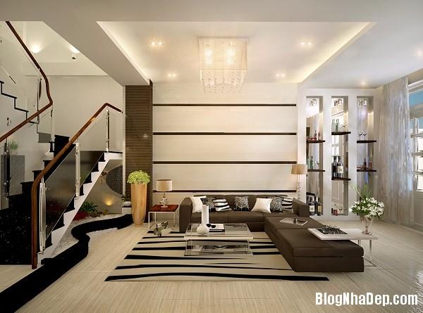 thiet ke noi that phong khach cho kieu nha pho hien dai 5 jp Những mẫu thiết kế nội thất phòng khách ấn tượng