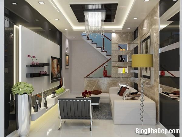 thiet ke noi that phong khach cho kieu nha pho hien dai 6 jp Những mẫu thiết kế nội thất phòng khách ấn tượng