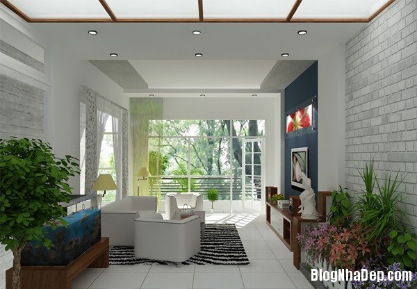 thiet ke noi that phong khach cho kieu nha pho hien dai 8 jp Những mẫu thiết kế nội thất phòng khách ấn tượng
