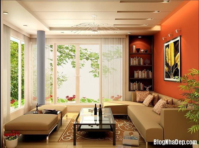thiet ke noi that phong khach cho kieu nha pho hien dai 9 jp Những mẫu thiết kế nội thất phòng khách ấn tượng