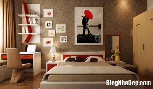 thiet ke phong ngu 1 Phong cách phòng ngủ ngọt ngào lãng mạn