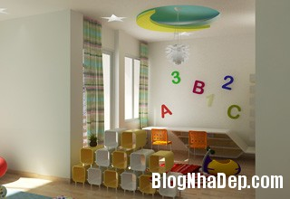 thiet ke noi that phong tre em 1 Thiết kế phòng ngủ phù hợp cho bé