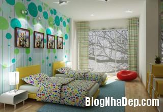 thiet ke noi that phong tre em 2 Thiết kế phòng ngủ phù hợp cho bé