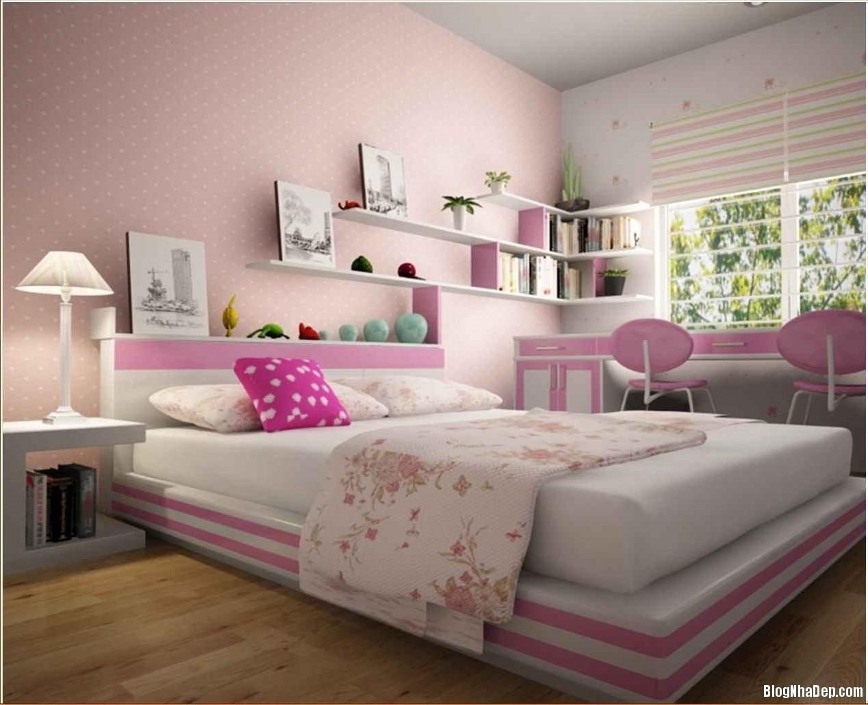 trang tri phong ngu dep 005 0 Trang trí nội thất cho phòng ngủ nhỏ