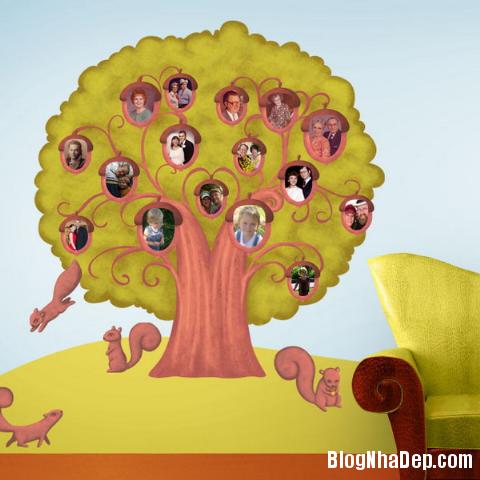 tuong nha an tuong voi cay anh gia dinh 10 Độc đáo với cây ảnh gia đình đầy yêu thương
