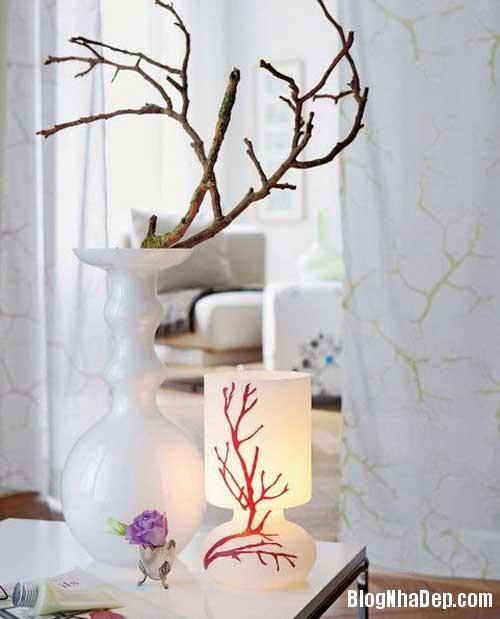 y tuong thu vi trang tri nha voi canh cay 1 2 Trang trí cành cây cho ngôi nhà thêm độc đáo