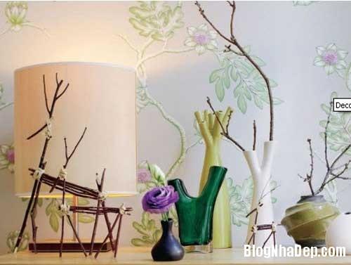 y tuong thu vi trang tri nha voi canh cay 6 Trang trí cành cây cho ngôi nhà thêm độc đáo