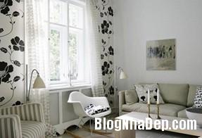 095431baoxaydung image003 Căn hộ quyến rũ với nội thất gam màu đen   trắng