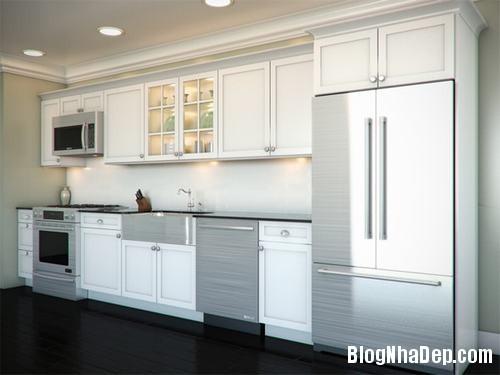 130847baoxaydung 15 Những mẫu tủ bếp chữ I xinh đẹp cho phòng bếp
