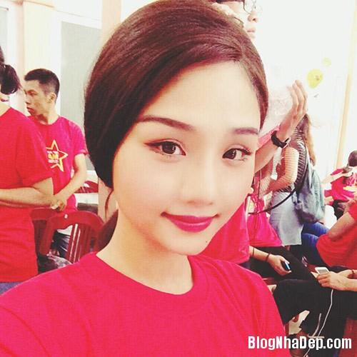 1403775267 miule eva6 Phòng ngủ màu hồng trẻ trung của ca sĩ Miu Lê