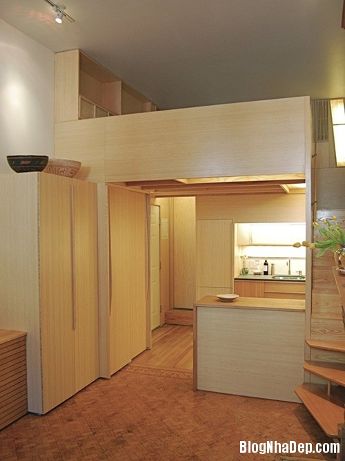 1405462562 2 Căn hộ 22m2 có phòng bếp gác xếp và phòng đọc sách