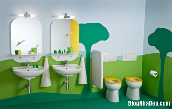 20131224081816065 Mẫu thiết kế phòng tắm đẹp cho bé yêu