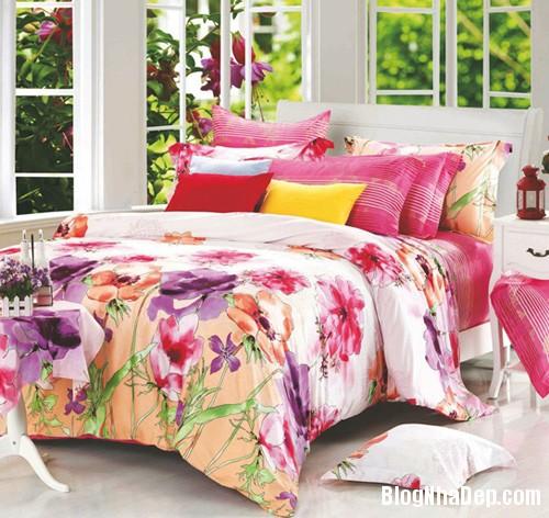 20131230020911119 Chọn ga giường tươi sáng cho phòng ngủ