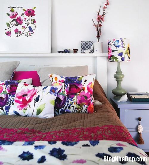 20131230020914957 Chọn ga giường tươi sáng cho phòng ngủ