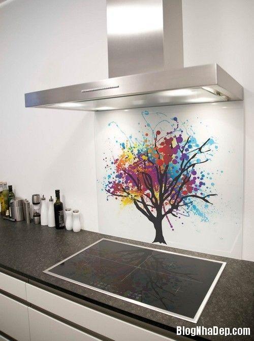 20140717032454341 Sử dụng kính cường lực in hình trong thiết kế bếp hiện đại